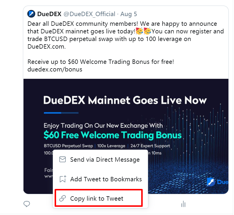 Копировать ретвит бесплатной биржи